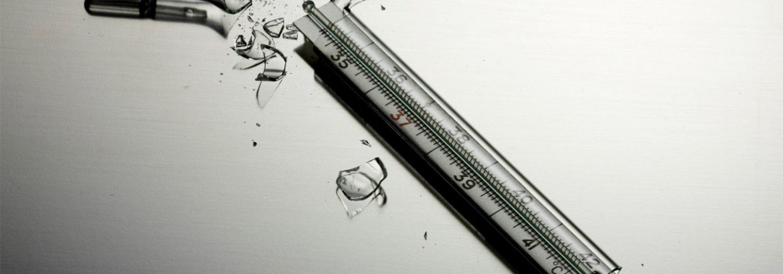Что делать, если разбился ртутный градусник в домашних условиях